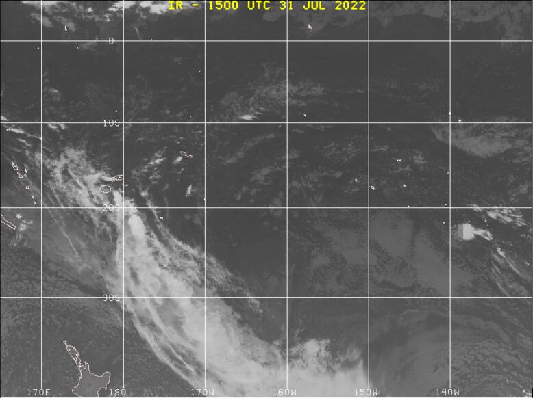 Southwest Pacific satellite image
