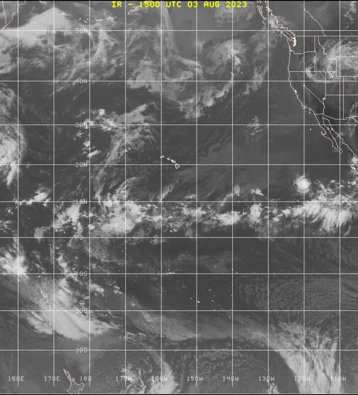 East Pacific satellite image